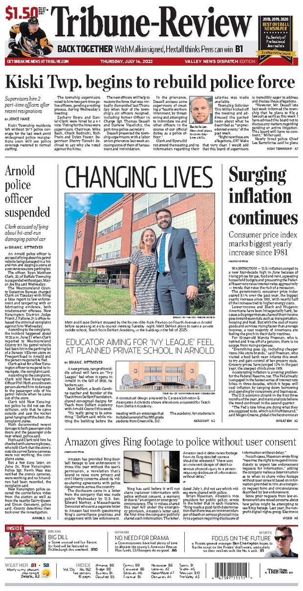 Tribune-Review: Valley News Dispatch Edition